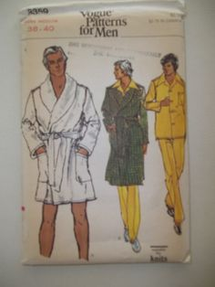 Men's Robe & Pajama Pattern Vogue 8359 by PatternParlor on Etsy