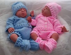Knitting Pattern Baby Boys/Girls or Reborn Dolls  Textured