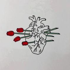 Imagen de heart, art, and rose Art And Illustration, Broken Hearts Club, Art Graphique, Heart Art, Art Design, Oeuvre D'art, Art Inspo, Line Art, Cool Art