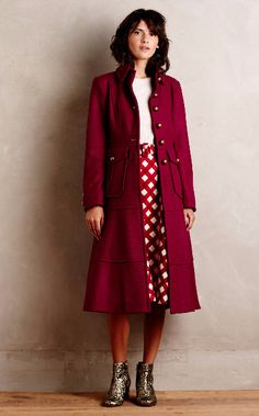 at anthropologie Militaria Wool Coat Warm Outfits, Winter Outfits, Fashion Plates, Fashion Stylist, Wool Coat, Winter Fashion, Fashion 2015, Classic Fashion, Passion For Fashion