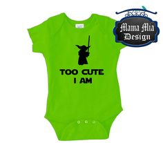 Hey, I found this really awesome Etsy listing at https://www.etsy.com/listing/237290835/disney-onesie-too-cute-i-am-yoda-shirt