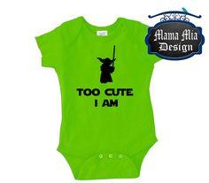 Hey, I found this really awesome Etsy listing at https://www.etsy.com/listing/237290835/disney-onesie-too-cute-i-am-yoda-shirt