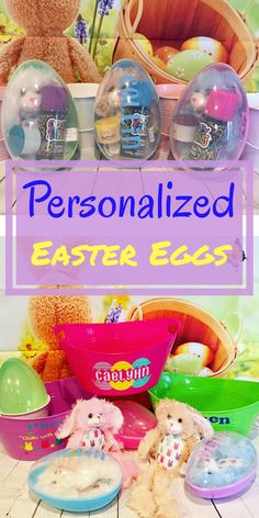 """7.5"""" plastic Easter egg personalized with your child's name on the clear cover. Choose from pink, purple, blue or green base. The eggs snap open so they can be filled with whatever kind of goodies you want.Personalized Easter Egg, Plastic Easter Egg, Large personalized Egg, Easter Gifts, Jumbo Egg, Personalized Easter Gifts, Easter Basket Stuff #easter #easterdiy #eastereggs #ad #spring #personalizedgifts #etsy"""