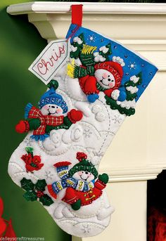 Bucilla Fun In Snow  16 Felt Christmas by FTHInternational on Etsy