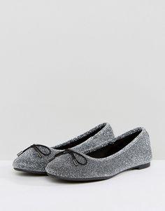 43c92bb9f06d New Look Shimmer Ballet Flat