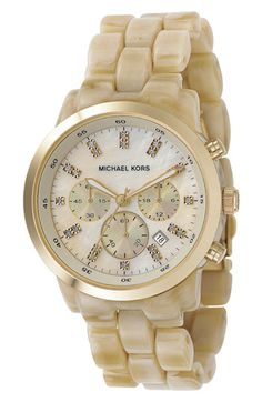 Michael Kors Resin Chronograph Watch available at #Nordstrom