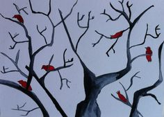 Birds in a tree,  made by @Suzan van Delft