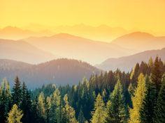 Golden Switzerland sunrise