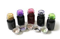 J. Herbin Scented Fountain Pen Ink - Sample Set of 5 Scents - 10 ml Bottles - J. HERBIN H120-02