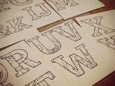 Creature Alphabet / Erica Sirotich on Dribbble.com