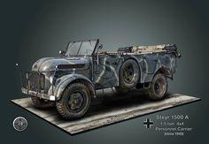 Steyr 1500A 1.5 ton 4x4 Personnel vehicle.