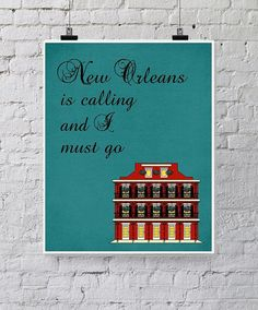 New Orleans Art Printable - French Quarter - Louisiana Travel Instant Download on Etsy, $5.00
