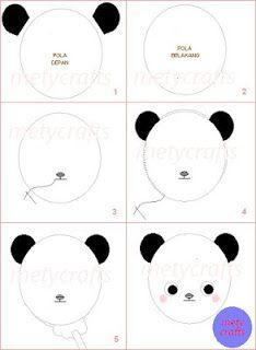 Everything Here Cara Membuat Boneka Panda Dari Kain Flanel Kain Flanel Kain Buat Pita