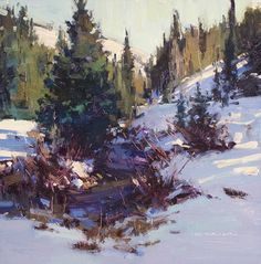 First Snow by Jill Carver Oil ~ 12 x 12