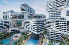 the interlace by OMA / ole scheeren forms a vertical village in singapore