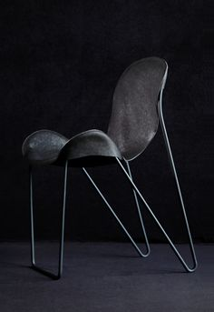 Anonymous; Enameled Metal and Leather 'Minim' Chair by NOSIGNER, 2013.
