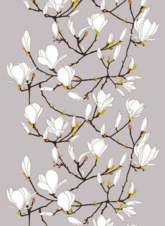 Tessuto in cotone con motivi floreali KEISARINNA - Marimekko