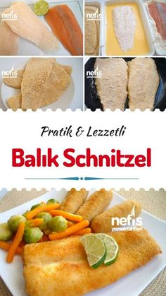 Balık Schnitzel – Nefis Yemek Tarifleri How to make Fish Schnitzel Recipe? Illustrated explanation of the Fish Schnitzel Recipe in the book of people and photographs of those who try it are here. Author: ♨❤lezzet-i Şahane❤♨ Easy Chicken Recipes, Shrimp Recipes, Meat Recipes, Easy Dinner Recipes, Easy Meals, Yummy Recipes, Schnitzel Recipes, How To Make Fish, Shellfish Recipes
