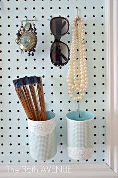 DIY Peg Board and Accessories Station | The 36th AVENUE
