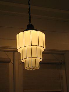 Cranston Sky Scraper Vintage ART DECO Globe PENDANT Lights