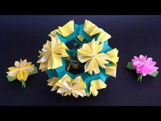 Origami Dandelion flower instructions 折り紙 たんぽぽ 簡単な折り方 - YouTube