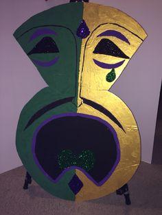 XL Sad Face Mardi Gras Mask