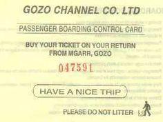Malta-Gozo ferry ticket
