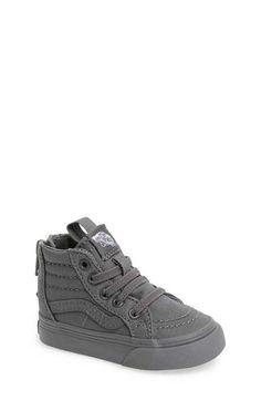 Vans Hi Zip Sneaker (Baby Walker Toddler Little Kid & Big Kid) - Baby Boy Shoes - Ideas of Baby Boy Shoes Cute Baby Shoes, Baby Boy Shoes, Girls Shoes, Baby Booties, Baby Boys, Baby Boy Swag, Carters Baby, Sneakers Outfit Men, Baby Sneakers