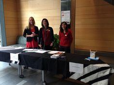 The black tablecloth batik was at the registration counter for the TED Barcelona! Congrats BatiksbyMora.com!