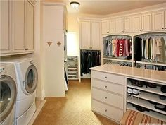 Great This Is How You Have A Closet. With The Washer And Dryer In It So You Donu0027t  Have To Carry Clothes Around The House! AND Have This Room Next To The  Bathroom ...