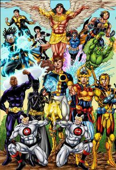 Golden Age Little Boy Blue DC Comics - Yahoo Image Search Results Arte Dc Comics, Dc Comics Superheroes, Best Cartoon Characters, Dc Comics Characters, Comic Book Heroes, Comic Books Art, Comic Art, Dc Comics Collection, Space Opera