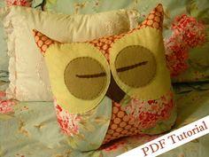 Emily Sleep Tight Pillow Owl Tutorial PDF by FlutterbysandFlowers, $10.00