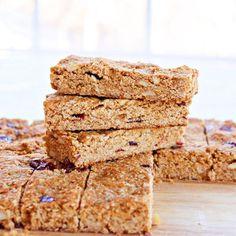 Homemade healthy granola snack bars
