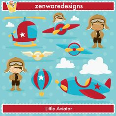 little aviator by zenware designs Planes Party, Airplane Party, Kit Scrapbook, Aviation Theme, Baby Boy Birthday, Travel Party, Vintage Airplanes, Boy Quilts, Baby Crafts