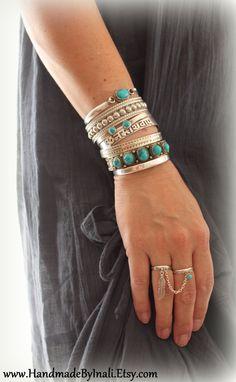 Zwei Silber vergoldet Ringe Kette dransein von handmadebyinali