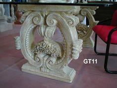 Table legs in stone  - http://www.achillegrassi.com/en/project/gambe-per-tavolo-in-pietra-bianca-di-vicenza-anticata/ - Table legs in antique white stone from Vicenza Dimensions:  76cm x 60cm x 20cm