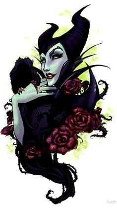 Maleficent by Audra Auclair Dark Disney, Disney And More, Disney Magic, Disney Art, Goth Disney, Maleficent Tattoo, Maleficent Dragon, Evil Villains, Disney Villains