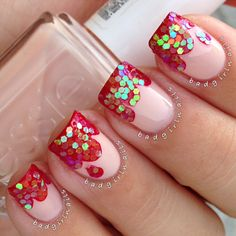 Halloween Blood Glitter Nails by badgirlnails | Nail It! Magazine