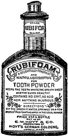 Vintage Rubifoam Tooth Powder Image C: 1880