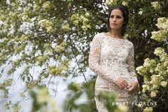 Weddings Beautiful Bride  Couture Dress Romance Lace Style Brett Florens Photography