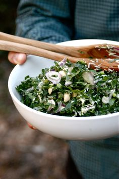 Looking forward to trying this recipe for raw kale salad, from Marcus Samuelsson's blog.