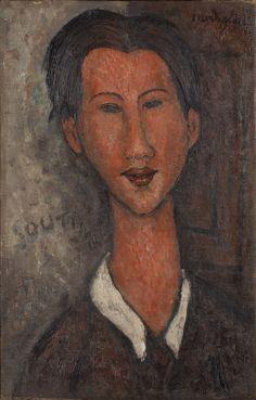 Amedeo Modigliani Ritratto di Soutine, 1917 Olio su tela Collezione privata