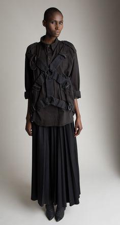 Miguel Adrover Pleated Skirt Boy London Bondage Top Designer Vintage Fashion