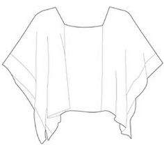 Wear as a square-neck top (and tie up the sides if you like)     Or....     Turn 45% and wear as a V-neck poncho.  .