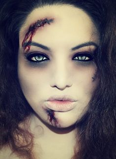 "Hot Zombie makeup... Yes, cuz nothing says ""let's make out"" like a zombie..... Oh dear"