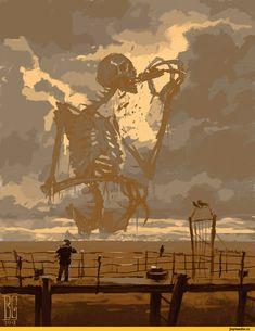 """Visual Necromancy"": The Amazing Art By Boris Groh Dark Fantasy Art, Fantasy Magic, Fantasy Kunst, Fantasy Artwork, Arte Horror, Horror Art, Art Sinistre, Arte Obscura, Creepy Art"