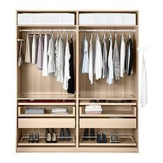 1000 images about pax wardrobe on pinterest pax - Armoire penderie angle ...