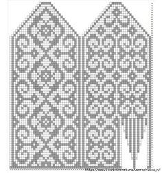Knitted Mittens Pattern, Knit Mittens, Knitted Gloves, Knitting Socks, Hand Knitting, Knitting Charts, Knitting Stitches, Knitting Patterns Free, Mittens