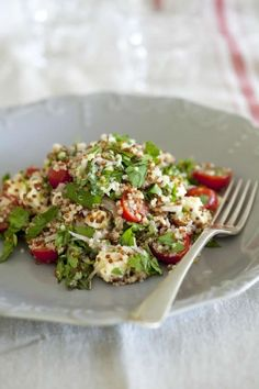 Quinoa, Herb, Tomato and Feta Salad