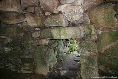 Carn Euny: near Penzance. The fogou is in a wonderful state of preservation. The entrance is quite deceptive as the opening is only around 3 feet high, but as soon the portal is navigated it is possible to stand fully upright.